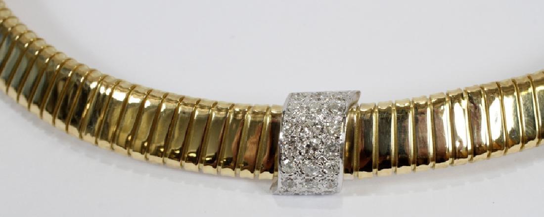 0.70CT DIAMOND, 18KT GOLD ACCORDION NECKLACE - 2
