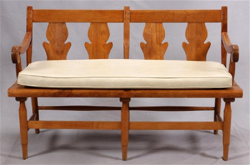 Cool Leopold Stickley Early American Pine Settle Bench Inzonedesignstudio Interior Chair Design Inzonedesignstudiocom