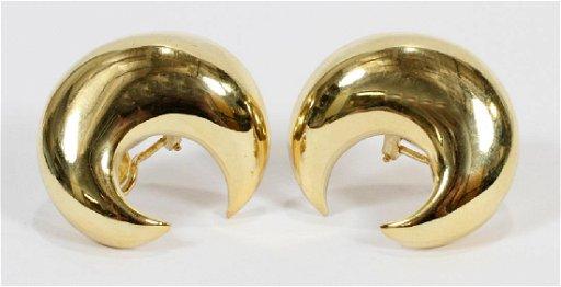 94c30265a2038 18KT GOLD CLIP EARRINGS, H 1.25