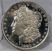 090465: US MORGAN SILVER DOLLAR, MS-65, 1883-0`