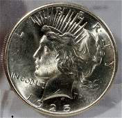 090466: US PEACE STERLING SILVER DOLLAR MS-65, 1925-P