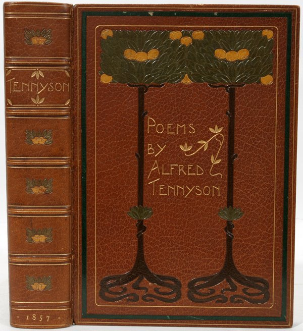 091001: POEMS BY ALFRED TENNYSON BOOK, 1857