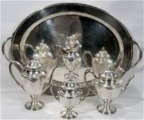 091014 AMERICAN STERLING SILVER COFFEE  TEA SET