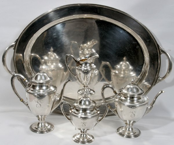 091014: AMERICAN STERLING SILVER COFFEE & TEA SET