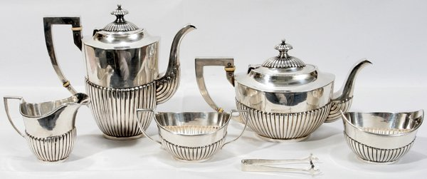 091017: 'OLD FRIEND' STERLING TEA & COFFEE SERVICE
