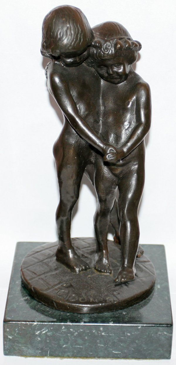 091279: AFTER CLODION BRONZE FIGURAL SCULPTURE, H8""