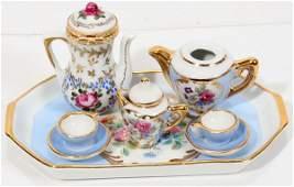 091390 STAFFORDSHIRE  LIMOGES PORCELAIN SWAN TEA