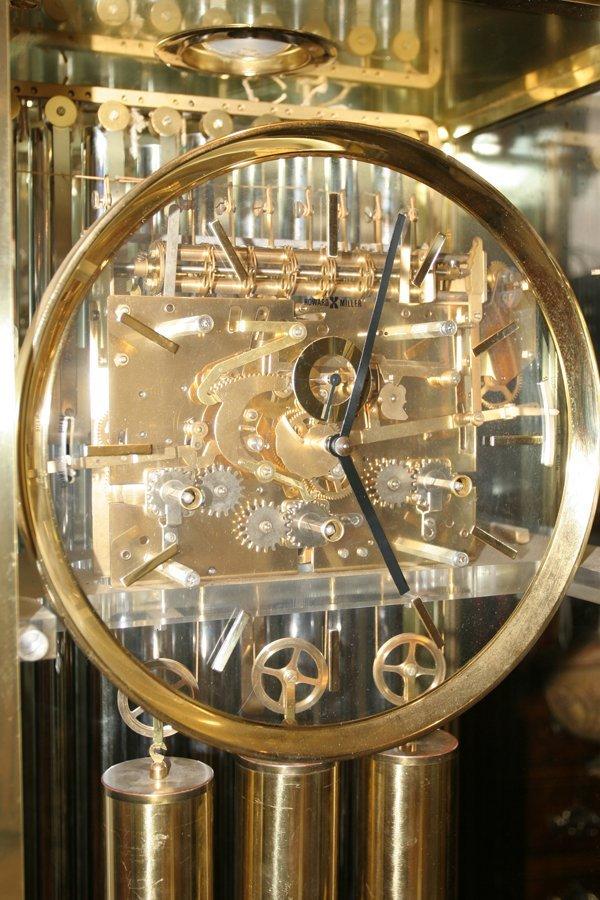 092106: HOWARD MILLER BRASS & GLASS GRANDFATHER CLOCK - 2
