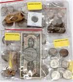 U.S., $1. MORGAN, PEACE, COLUMBUS, STERLING SILVER