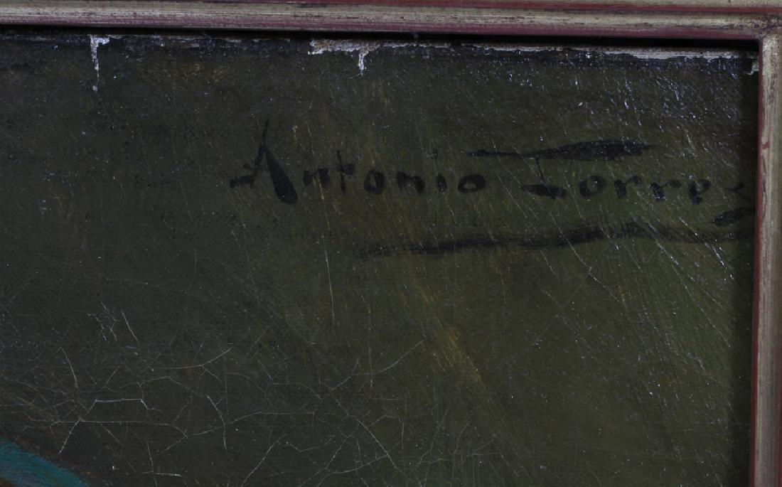 ANTONIO ROCCHETTI TORRES OIL ON CANVAS PORTRAIT - 4