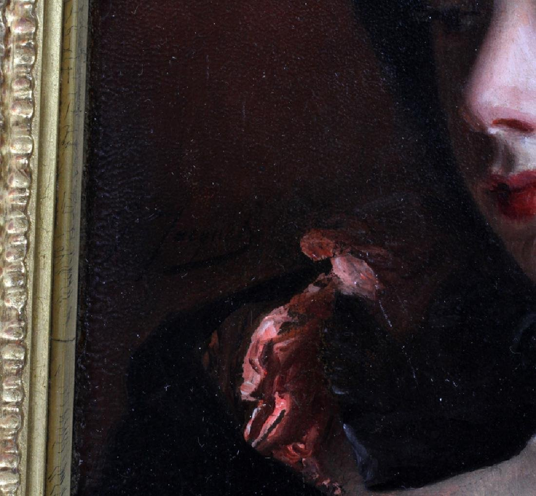 GUSTAVE JEAN JACQUET OIL ON MAHOGANY PANEL - 4