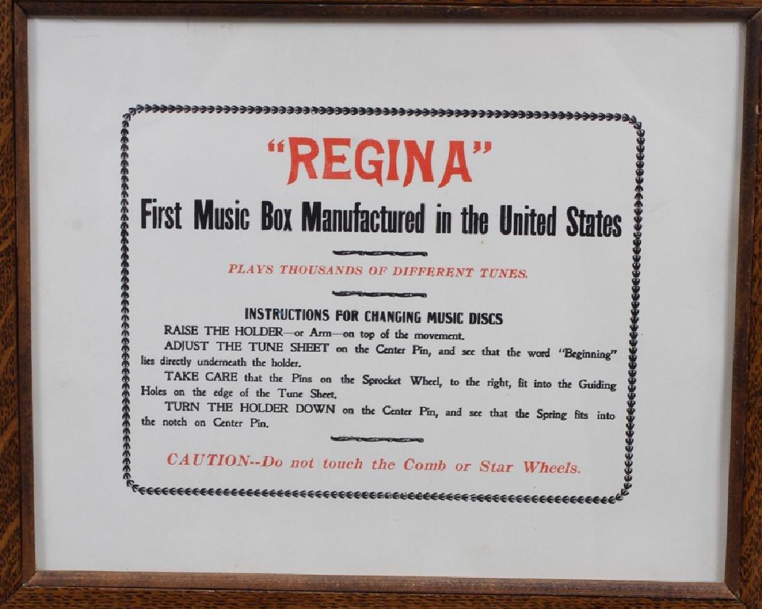 """""""REGINA"""" OAK CASE, DISC MUSIC BOX AND 4 DISCS - 4"""