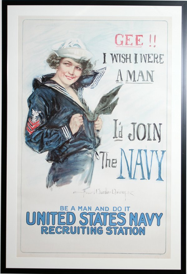 100004: HOWARD CHANDLER CHRISTY, WWI POSTER, 'GEE...'