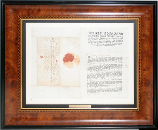 100005: EMPRESS MARIA THERESA SIGNED DOCUMENT, 1745