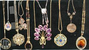 100563 COSTUME JEWELRY ASSORTED NECKLACES 10 PCS