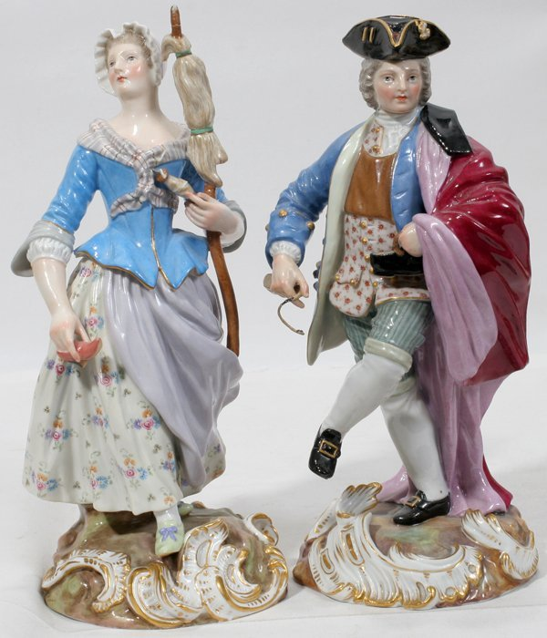101002: MEISSEN PORCELAIN FIGURES COBBLER & HIS WIFE