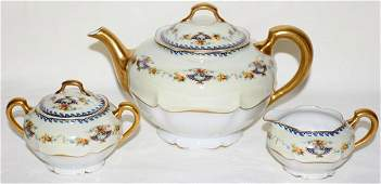101549: HAVILAND LIMOGES PORCELAIN TEA SET