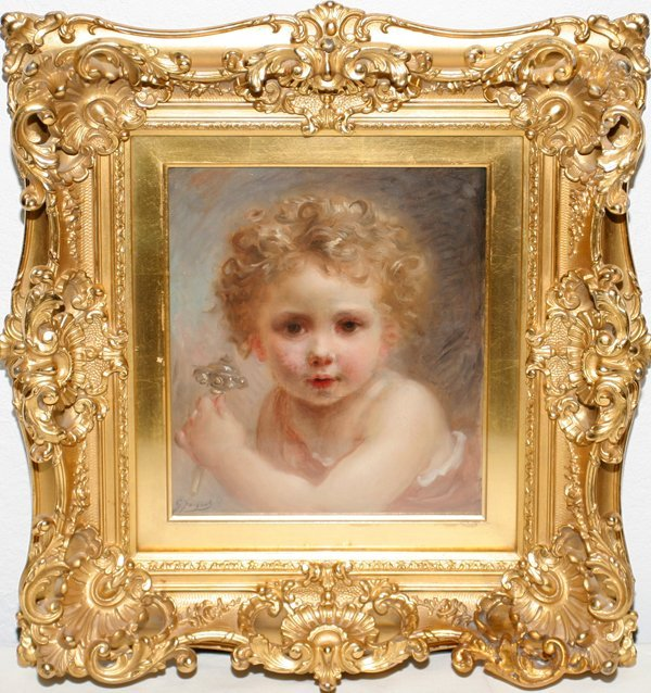 102006: GUSTAVE JEAN JACQUET OIL ON WOOD PANEL