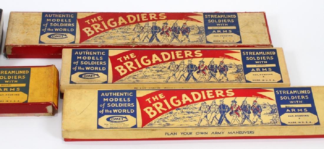 "COMET METAL PRODUCTS ""BRIGADIER"" LEAD TOY SOLDIERS - 5"