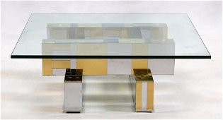 PAUL EVANS 'CITYSCAPES'  COFFEE TABLE