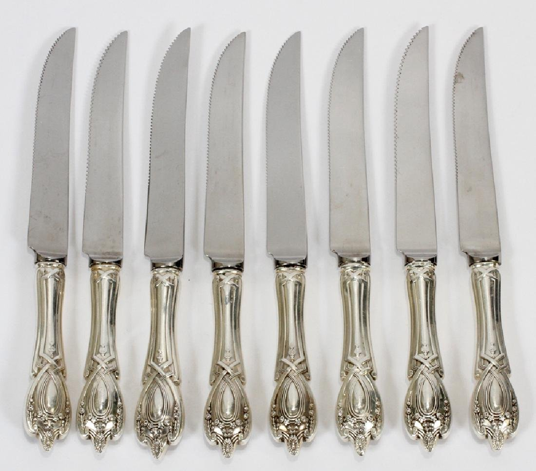 ONE  EACH TOWLE CANDLELIGHT STERLING SILVER HOLLOW HANDLE DINNER KNIFE 8 5//8 IN