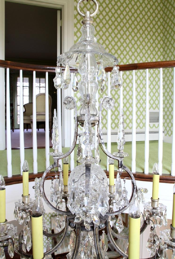 WATERFORD CRYSTAL 8-LIGHT CHANDELIER - 3