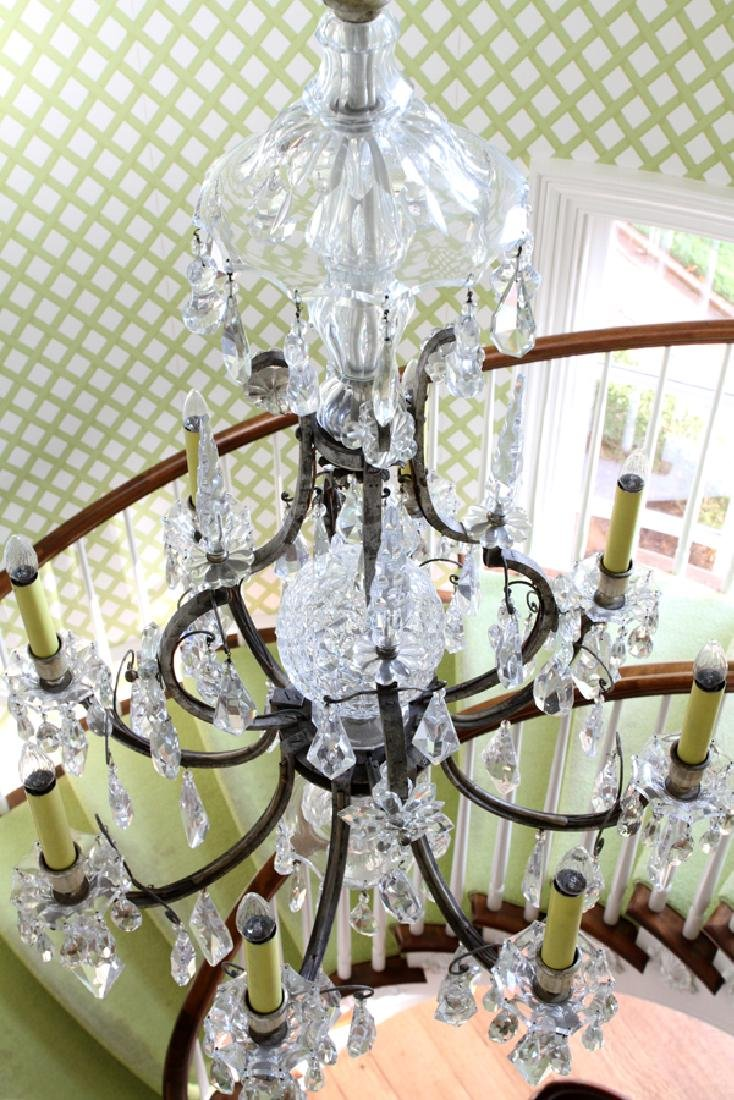 WATERFORD CRYSTAL 8-LIGHT CHANDELIER - 4