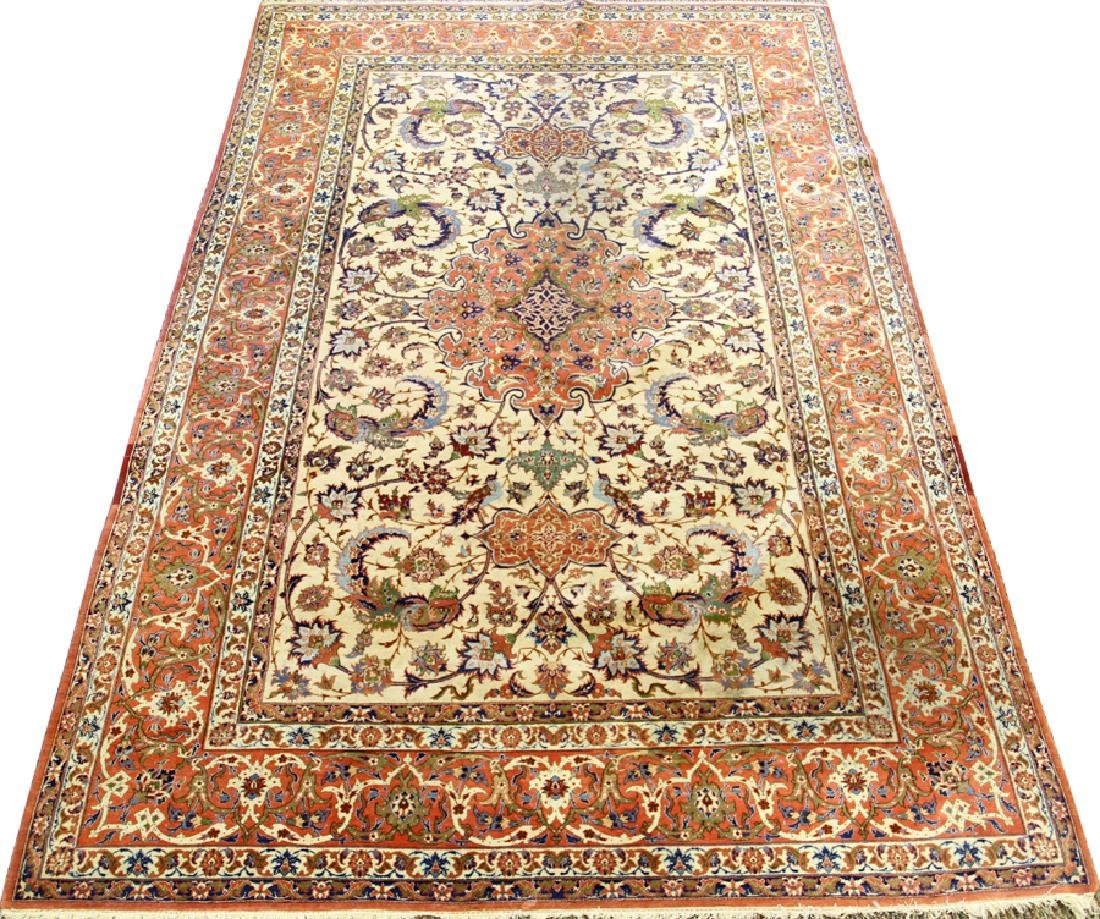 PERSIAN TABRIZ HAND WOVEN WOOL CARPET