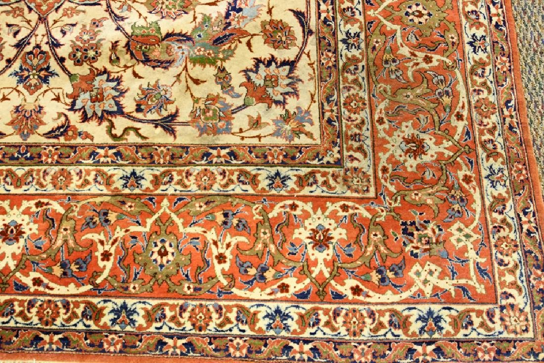 PERSIAN TABRIZ HAND WOVEN WOOL CARPET - 2