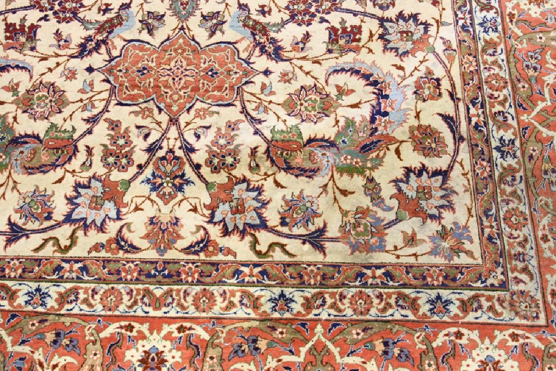 PERSIAN TABRIZ HAND WOVEN WOOL CARPET - 3