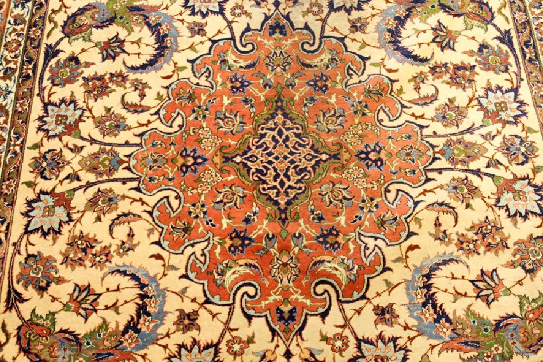 PERSIAN TABRIZ HAND WOVEN WOOL CARPET - 4