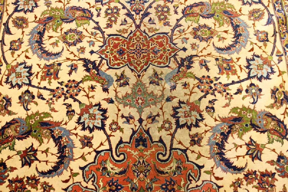 PERSIAN TABRIZ HAND WOVEN WOOL CARPET - 5