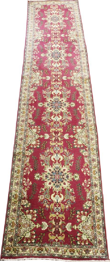PERSIAN TABRIZ HANDWOVEN WOOL RUNNER