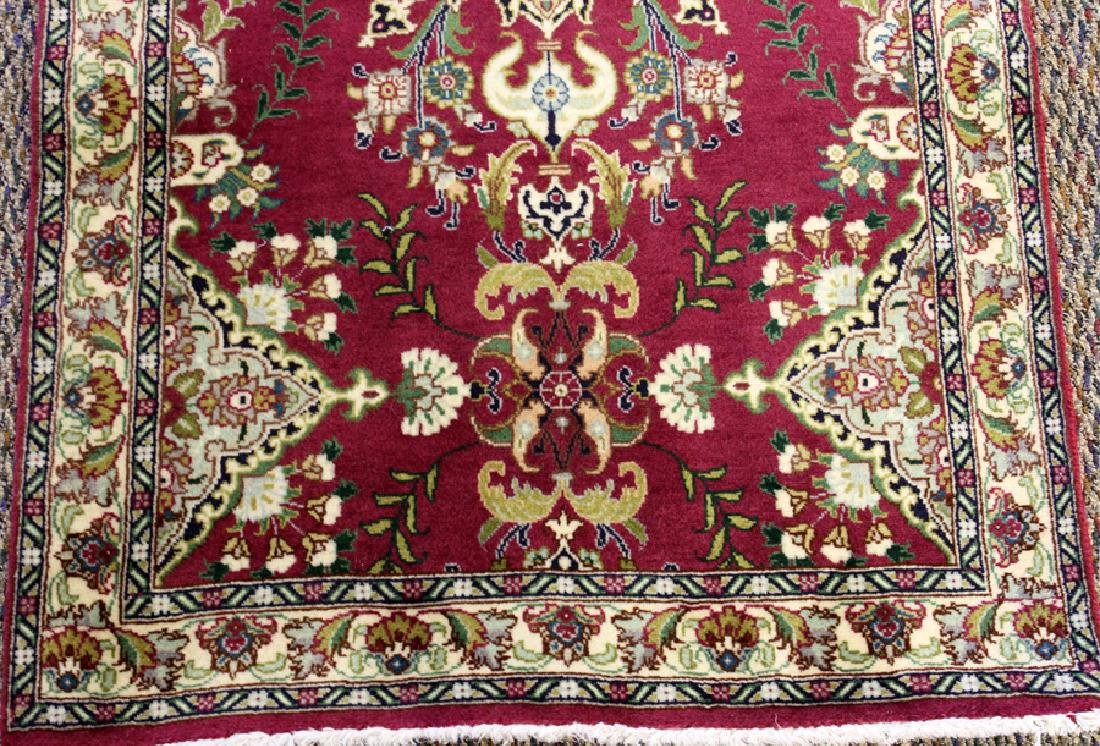 PERSIAN TABRIZ HANDWOVEN WOOL RUNNER - 2