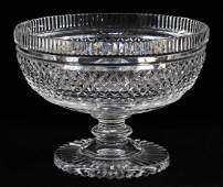"WATERFORD CUT CRYSTAL COMPOTE, H 5.5"", DIA 7.5"""