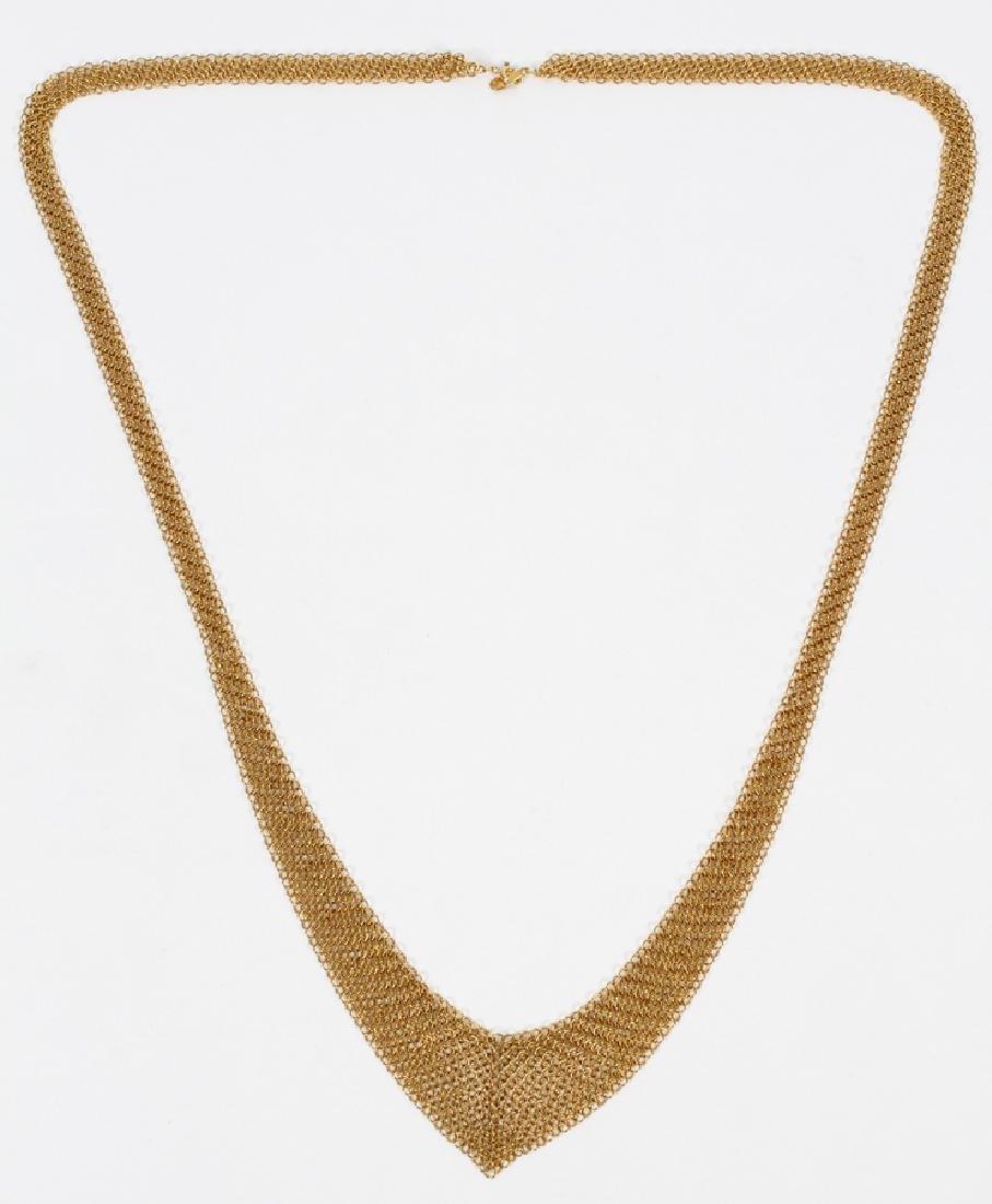 ELSA PERETTI, TIFFANY 18KT GOLD MESH NECKLACE