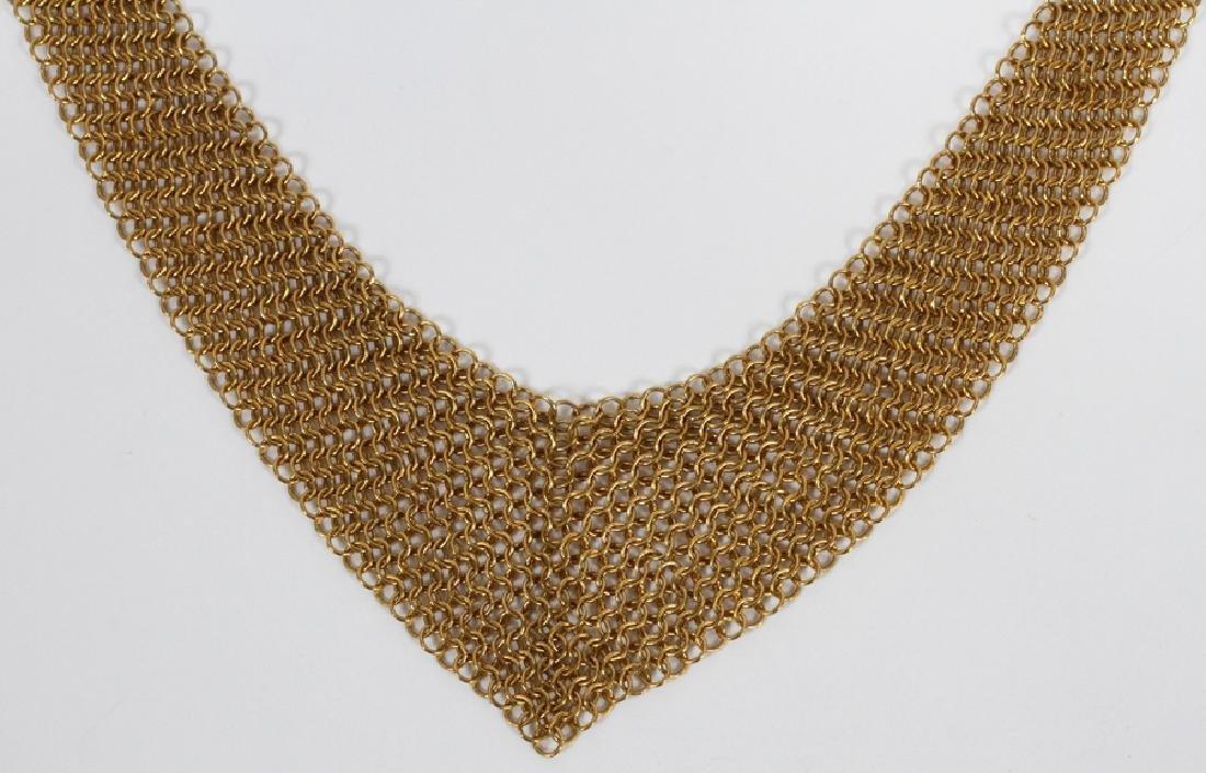 ELSA PERETTI, TIFFANY 18KT GOLD MESH NECKLACE - 2