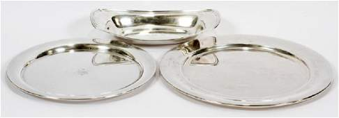GORHAM  PAUL REVERE STERLING SILVER TRAYS  DISH