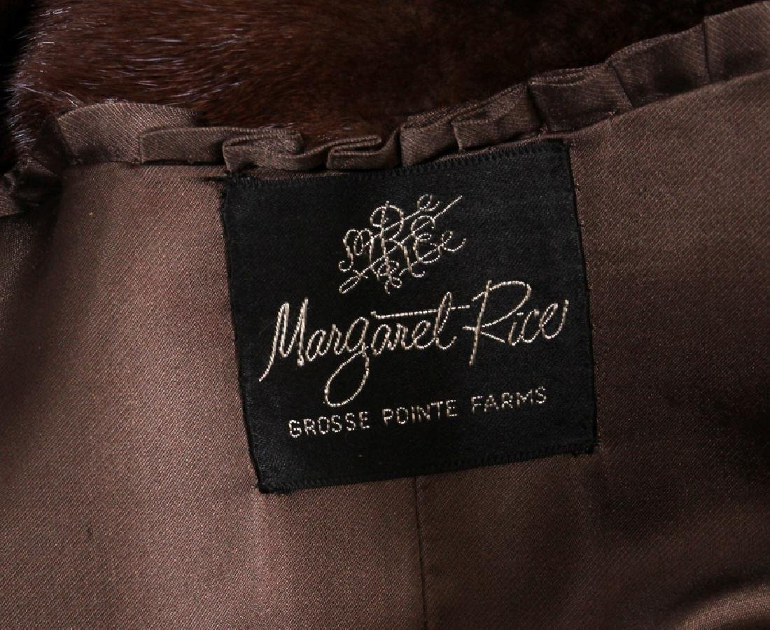 MARGARET RICE MINK FUR COAT - 4
