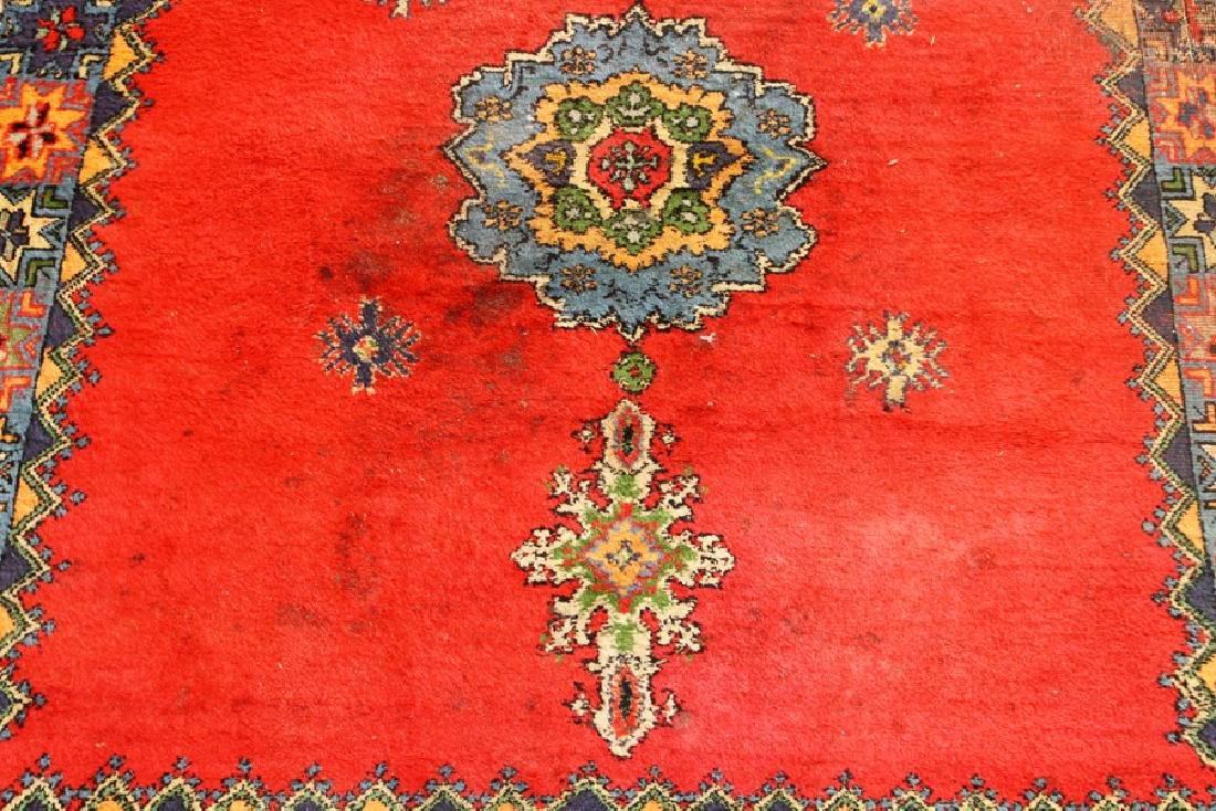 """HAND WOVEN WOOL RUG, W 63.5"""", L 75"""" - 3"""
