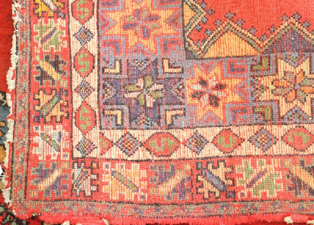 """HAND WOVEN WOOL RUG, W 63.5"""", L 75"""" - 4"""
