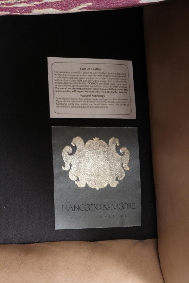 HANCOCK & MOORE LEATHER SOFA, CHAIR, & OTTOMANS - 3