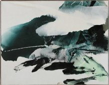 """CHUANG CHE MIXED MEDIA, 1978 """"LANDSCAPE 74-125"""""""