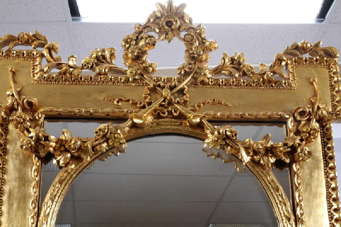 FRENCH STYLE GILT CONSOLE AND MIRROR - 2