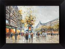 IN THE STYLE OF ANTOINE BLANCHARD OIL ON CANVAS