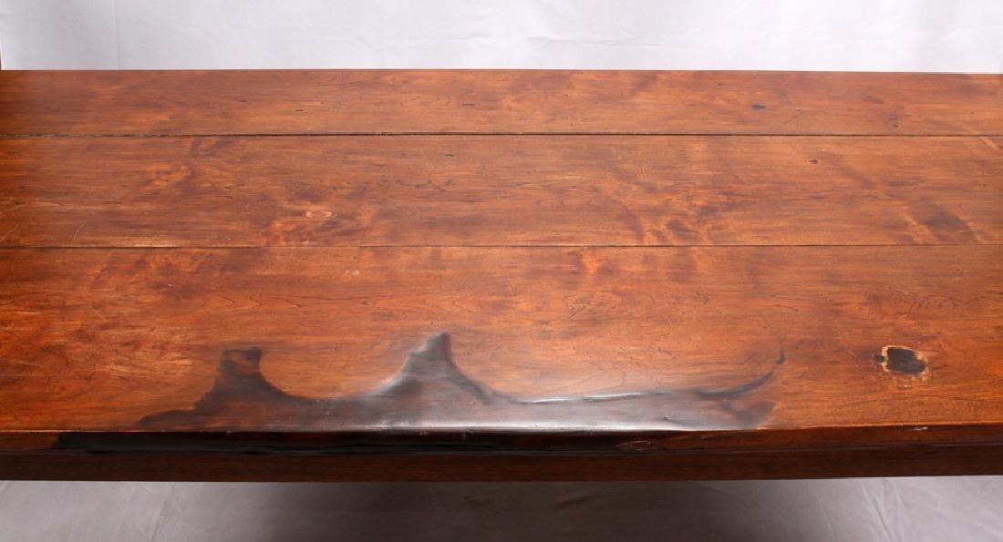 BURMESE CARVED MAHOGANY REFECTORY TABLE - 3