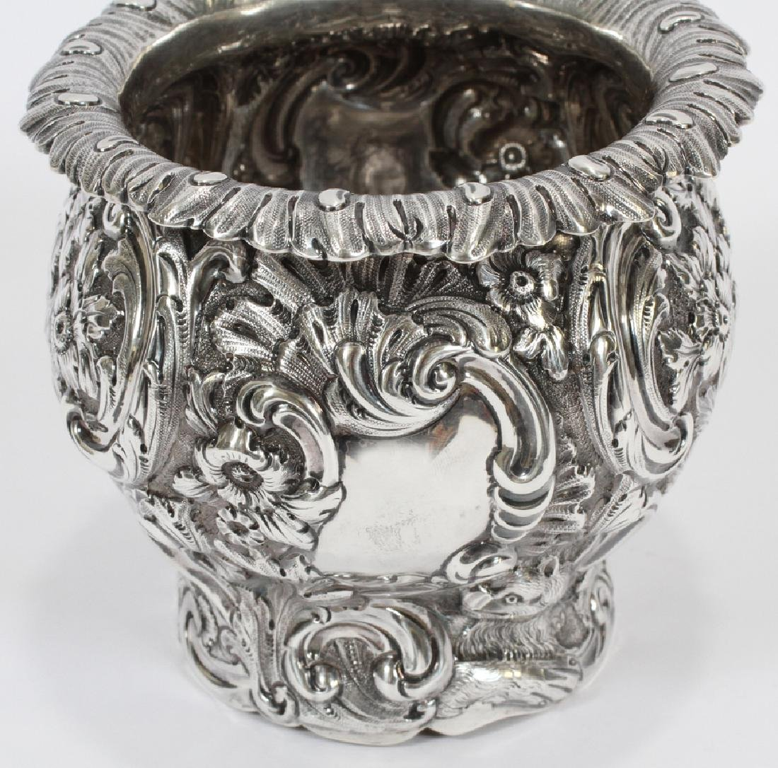 ENGLISH STERLING REPOUSSE VASE, 1897 - 2