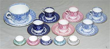 1339 WT COPELAND  SONS ENGLISH PORCELAIN CUPS AND