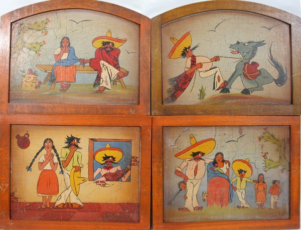 110464: MEXICAN PAINTINGS ON ARTIST BOARD, C.1930