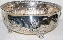 111024: TIFFANY STERLING FOOTED CENTERPIECE, C.1892-